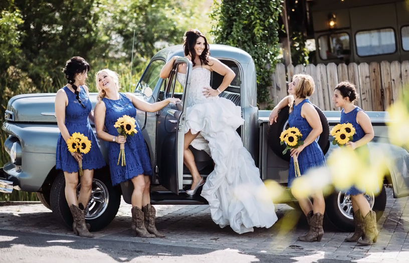 Julie Pennella and Bridesmaids