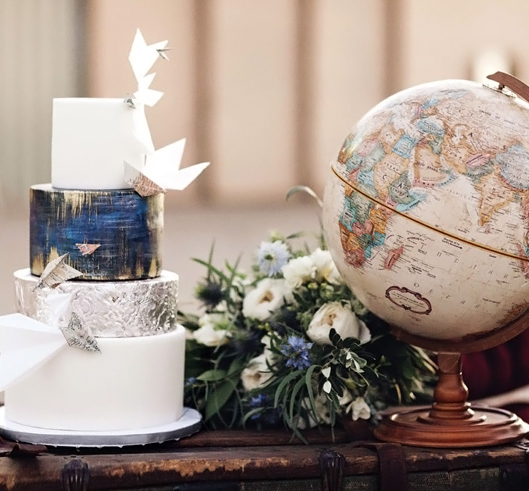 Cake and Globe