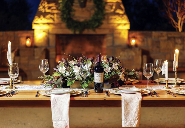 Wine on the table Country Elegance