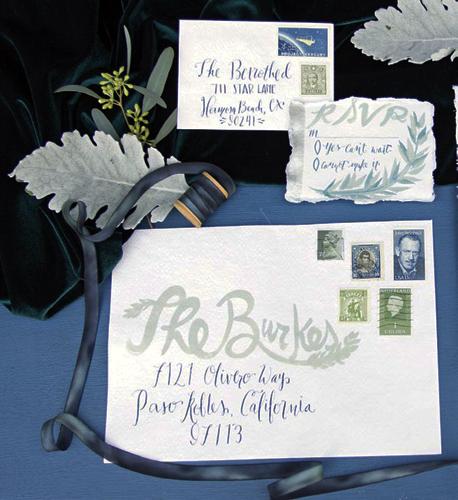 Something Blue Wedding Invitations