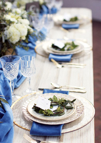 Something Blue Table Setting
