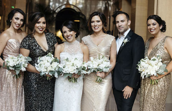 Christina and her Bridal Party
