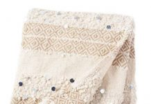 "MOROCCAN WEDDING BLANKET—This bohochic textile marries Old-World tradition with modern style. ""It's made by hand and woven with different textures, usually in a striped pattern,"" says Denham. ""Often, it will have silver sequins, too."" Use it as a throw, bed covering or wall hanging. Look for it at: Kechmara Designs, 1104 R St."