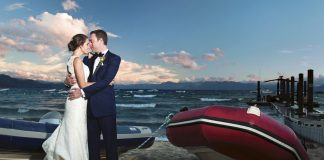 Plan your wedding to take place in Lake Tahoe and be assured of a spectacular day. A wedding in Tahoe puts the focus on that blue, blue water and those endless sunsets—a backdrop that requires little to no embellishment.