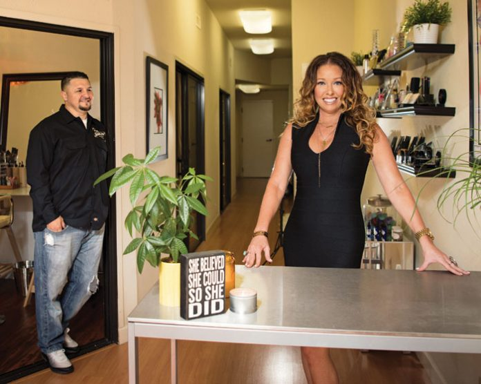 Sacramento makeup artist recently teamed up with her longtime romantic partner to open adjoining businesses that serve as a one-stop beauty shop of sorts for bridal parties.