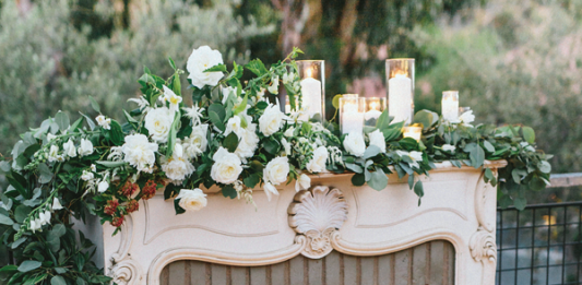 designing your wedding fireplace