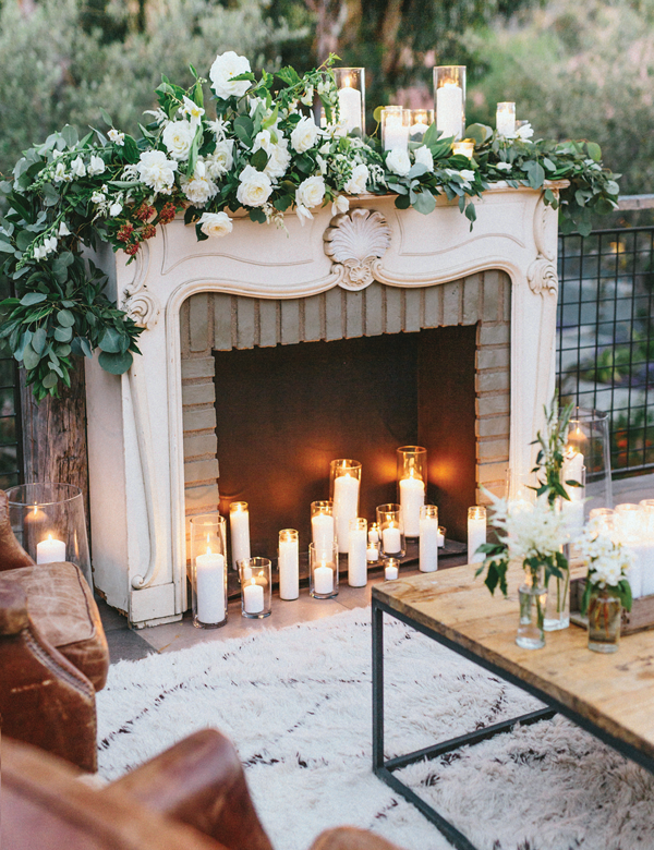 designing your wedding fireplace